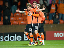 :: DUNDEE UTD'S DAVID GOODWILLIE CELEBRATES AFTER HE SCORES THE FIRST FOR UNITED ::