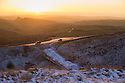 08/01/16<br /> <br /> After weeks of higher than average temperatures, a snowy dawn breaks over the A53 on Axe Edge in the Derbyshire Peak District near Buxton.<br /> <br /> All Rights Reserved: F Stop Press Ltd. +44(0)1335 418365   +44 (0)7765 242650 www.fstoppress.com