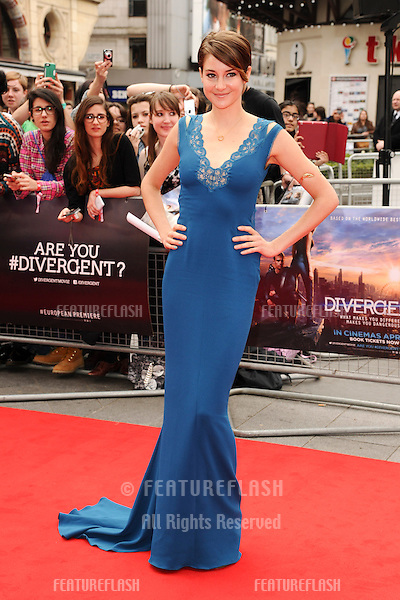 """Shailene Woodley arrives for the """"Divergent"""" UK premiere at the Odeon Leicester Square, London. 30/03/2014 Picture by: Steve Vas / Featureflash"""