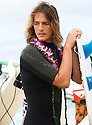 Hawaiian Danny Fuller at the funeral of Peter Davi at Pipeline on the Northshore of Hawaii.