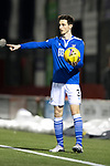 Hamilton Accies v St Johnstone …03.03.21   Fountain of Youth Stadium   SPFL<br />Scott Tanser<br />Picture by Graeme Hart.<br />Copyright Perthshire Picture Agency<br />Tel: 01738 623350  Mobile: 07990 594431