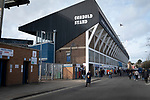 Ipswich Town 0, Oxford United 1, 22/02/2020. Portman Road, SkyBet League One. Home fans making their way to the stadium before Ipswich Town play Oxford United in a SkyBet League One fixture at Portman Road. Both teams were in contention for promotion as the season entered its final months. The visitors won the match 1-0 through a 44th-minute Matty Taylor goal, watched by a crowd of 19,363. Photo by Colin McPherson.