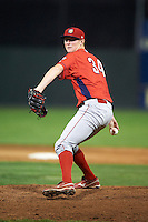 Williamsport Crosscutters pitcher Steven Inch #34 during a NY-Penn League game against the Batavia Muckdogs at Dwyer Stadium on August 24, 2012 in Batavia, New York.  Williamsport defeated Batavia 7-4.  (Mike Janes/Four Seam Images)