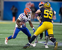 Atlanta, Georgia - December 29, 2018: Mercedes Benz Stadium, the number 10 ranked Florida Gators play the number 7 ranked Michigan Wolverines in the Peach Bowl.  Final score Florida 41, Michigan 15.