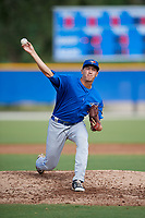 Toronto Blue Jays pitcher Graham Spraker (87) delivers a pitch during an Instructional League game against the Philadelphia Phillies on October 7, 2017 at the Englebert Complex in Dunedin, Florida.  (Mike Janes/Four Seam Images)