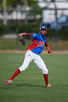 Rhaybel Roso (5) during the Dominican Prospect League Elite Florida Event at Pompano Beach Baseball Park on October 14, 2019 in Pompano beach, Florida.  (Mike Janes/Four Seam Images)