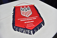 Atlanta, GA - Sunday Sept. 18, 2016: Banner prior to a international friendly match between United States (USA) and Netherlands (NED) at Georgia Dome.