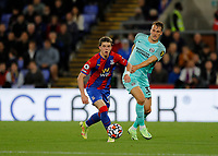27th September 2021;  Selhurst Park, Crystal Palace, London, England; Premier League football, Crystal Palace versus Brighton & Hove Albion: Conor Gallagher of Crystal Palace marked by Dan Burn of Brighton & Hove Albion