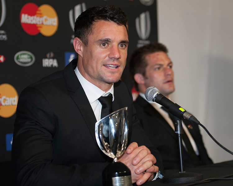 Dan Carter with Richie McCaw of New Zealand at the World Rugby Awards 2015  - 01/11/2015 - Battersea Evolution, London<br /> Mandatory Credit: Rob Munro/Stewart Communications