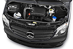 Car Stock 2014 Mercedes Benz Sprinter 316CDi MWB 4 Door Combi 2WD Engine high angle detail view