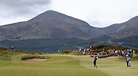 Saturday 30th May 2015; Graeme McDowell, Northern Ireland, plays his approach to the 8th green<br /> <br /> Dubai Duty Free Irish Open Golf Championship 2015, Round 3 County Down Golf Club, Co. Down. Picture credit: John Dickson / SPORTSFILE