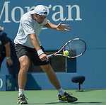 Benjamin Becker (GER) battles Novak Djokovic (SRB) at the US Open being played at USTA Billie Jean King National Tennis Center in Flushing, NY on August 30, 2013