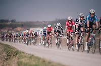Cyril Lemoine (FRA/Cofidis) on the Plugstreets<br /> <br /> 81st Gent-Wevelgem in Flanders Fields (1.UWT)<br /> Deinze > Wevelgem (251km)