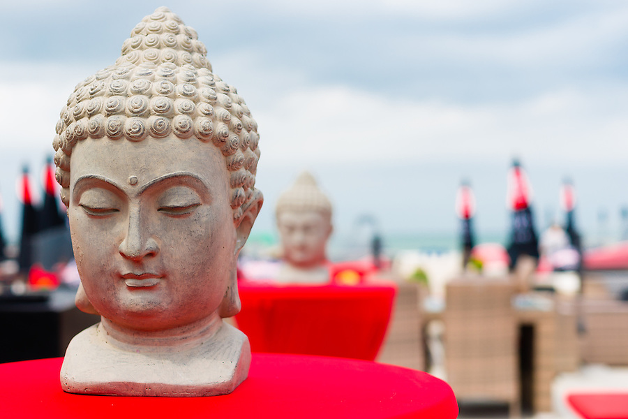 Buddha statues on the beach