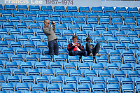 Wycombe Wanderers supporters arrive for the Carabao Cup match between Manchester City and Wycombe Wanderers at the Etihad Stadium, Manchester, England on 21 September 2021. Photo by David Horn.