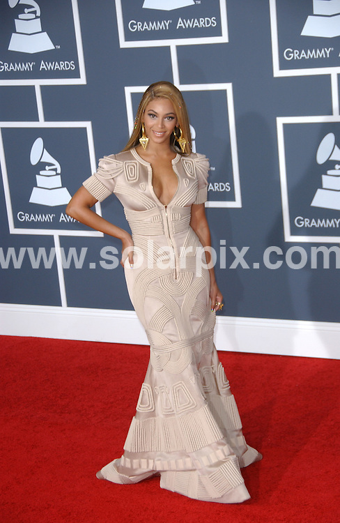 **ALL ROUND PICTURES FROM SOLARPIX.COM**.**SYNDICATION RIGHTS FOR UK, AUSTRALIA, DENMARK, PORTUGAL, S. AFRICA, SPAIN & DUBAI (U.A.E) ONLY**.arrivals for the 52nd Annual GRAMMY Awards at the Staples Center at the Los Angeles, CA, USA. 31 January 2010..This pic: Beyonce Knowles..JOB REF: 10591 PHZ Ortega   DATE: 31_01_2010.**MUST CREDIT SOLARPIX.COM OR DOUBLE FEE WILL BE CHARGED**.**MUST NOTIFY SOLARPIX OF ONLINE USAGE**.**CALL US ON: +34 952 811 768 or LOW RATE FROM UK 0844 617 7637**