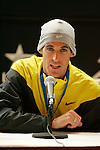 Alan Culpepper answers questions at a press conference following the 2008 Men's Olympic Trials Marathon on November 3, 2007 in New York, New York.  The race began at 50th Street and Fifth Avenue and finished in Central Park.  Ryan Hall won the race with a time of 2:09:02.