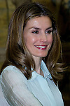 13.06.2012. Prince Felipe of Spain and Princess Letizia of Spain attens Annual Meeting with Members of the Prince of Asturias Foundation at the Royal Palace of El Pardo in Madrid. In the image Princess Letizia (Alterphotos/Marta Gonzalez)