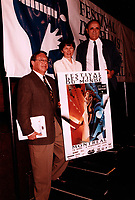 Montreal (Qc) CANADA - 1995 File Photo -David Novek (L), Danielle Cauchard (M), Serge Losique (R)<br /> <br /> PHOTO :  Agence Quebec Presse
