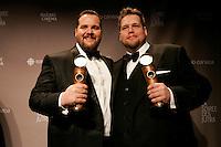 March, 23, 2014 - JUTRAS Awards Gala - Antoine Bertrand, Meilleur acteur (G) et  Guillaume Cyr, meilleur acteur de soutien (D), Louis Cyr : l'homme le plus fort du Monde
