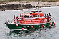 Europe/France/Normandie/Basse-Normandie/50/Manche/Presqu'île de la Hague/Goury: la station de sauvetage en mer- le canot de sauvetage: le Mona Rigolet 17,60 m