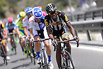 MTN-Qhubeka and United Healthcare Pro Cycling on the front of the peloton during Stage 7 of the 2015 Presidential Tour of Turkey running 166km from Selcuk to Izmir. 2nd May 2015.<br /> Photo: Tour of Turkey/Mario Stiehl/www.newsfile.ie