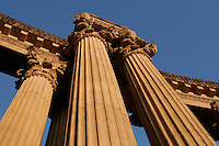 North America, United States of America, California, San Francisco, Columns of The Palace of Fine Arts in the Marina District, ©Stephen Blake Farrington<br />