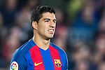 Luis Suarez of FC Barcelona reacts during their Copa del Rey 2016-17 Semi-final match between FC Barcelona and Atletico de Madrid at the Camp Nou on 07 February 2017 in Barcelona, Spain. Photo by Diego Gonzalez Souto / Power Sport Images