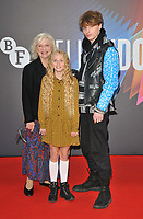 """Sandra Dickinson, Olive Tennant and Tyler Moffett at the 65th BFI London Film Festival """"Belfast"""" American Airlines gala, Royal Festival Hall, Belvedere Road, on Tuesday 12th October 2021, in London, England, UK.  <br /> CAP/CAN<br /> ©CAN/Capital Pictures"""