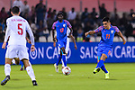 Sunil Chhetri of India (R) in action during the AFC Asian Cup UAE 2019 Group A match between India (IND) and Bahrain (BHR) at Sharjah Stadium on 14 January 2019 in Sharjah, United Arab Emirates. Photo by Marcio Rodrigo Machado / Power Sport Images