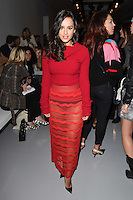 Georgia May Foote<br /> at the Teatum Jones AW17 show as part of London Fashion Week AW17 at 180 Strand, London.<br /> <br /> <br /> ©Ash Knotek  D3230  17/02/2017