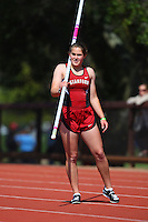 4 May 2008: Stanford Cardinal Caitlin Hewitt during Stanford's Payton Jordan Cardinal Invitational at Cobb Track & Angell Field in Stanford, CA.
