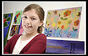 22/06/2009  Copyright  Pic : James Stewart.13_cross_currents.DELTA STUDIOS :: CROSS CURRENTS EXHIBITION :: NIAMH HAINEY (9) FROM COMLEY PARK SCHOOL STANDS BESDIE HER EXHIBITED PAINTING:: .James Stewart Photography 19 Carronlea Drive, Falkirk. FK2 8DN      Vat Reg No. 607 6932 25.Telephone      : +44 (0)1324 570291 .Mobile              : +44 (0)7721 416997.E-mail  :  jim@jspa.co.uk.If you require further information then contact Jim Stewart on any of the numbers above.........