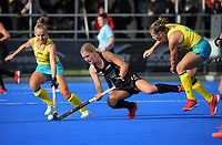 NZ's Katie Doar in action during the Sentinel Homes Trans Tasman Series hockey match between the New Zealand Black Sticks Women and the Australian Hockeyroos at Massey University Hockey Turf in Palmerston North, New Zealand on Sunday, 30 May 2021 Photo: Dave Lintott / lintottphoto.co.nz