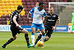 Motherwell v St Johnstone…05.05.18…  Fir Park    SPFL<br />Matty Willock is closed down by Carl McHugh and Liam Grimsahw<br />Picture by Graeme Hart. <br />Copyright Perthshire Picture Agency<br />Tel: 01738 623350  Mobile: 07990 594431