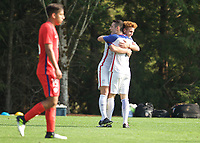 Portland, OR - Wednesday August 09, 2017: Matthew Hundley, Joshua Sargent during friendly match between the USMNT U17's and Chile u17's at Nike World Headquarters in Portland, OR.