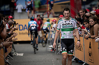 Sam Bennett (IRL/Bora-Hansgrohe) at the race start in Andorra la Vella<br /> <br /> Stage 9: Andorra la Vella to Cortals d'Encamp (94km) - ANDORRA<br /> La Vuelta 2019<br /> <br /> ©kramon