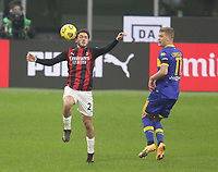 Milano  13-12-2020<br /> Stadio Giuseppe Meazza<br /> Campionato Serie A Tim 2020/21<br /> Milan - parma<br /> nella foto:  Davide Calabria                                                        <br /> Antonio Saia Kines Milano