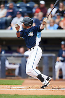 West Michigan Whitecaps outfielder Derek Hill (21) at bat during a game against the Cedar Rapids Kernels on June 7, 2015 at Fifth Third Ballpark in Comstock Park, Michigan.  West Michigan defeated Cedar Rapids 6-2.  (Mike Janes/Four Seam Images)
