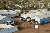 UGANDA, Arua, Yumbe, south sudanese refugees in Bidi Bidi refugee settlement, UN compound / suedsudanesische Fluechtlinge im Fluechtlingslager Bidi Bidi, UN Lager