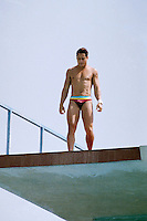 July 20, 1988 - Irvine, California - USA - Greg Louganis Stands on a diving platform in Irvine, California on July 20, 1988. (Photo by Alan Greth