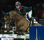 HKJC-sponsored rider Kenneth Cheng competes for Hong Kong at the 2014 Longines HK Masters at the Asia World Expo. Photo by Andy Jones / Power Sport Images
