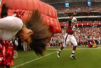 Aug 18, 2007; Glendale, AZ, USA; Arizona Cardinals tight end Leonard Pope (82) against the Houston Texans at University of Phoenix Stadium. Mandatory Credit: Mark J. Rebilas-US PRESSWIRE Copyright © 2007 Mark J. Rebilas