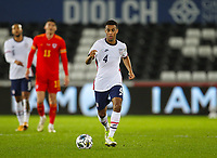 12th November 2020; Liberty Stadium, Swansea, Glamorgan, Wales; International Football Friendly; Wales versus United States of America; Tyler Adams of USA brings the ball forward