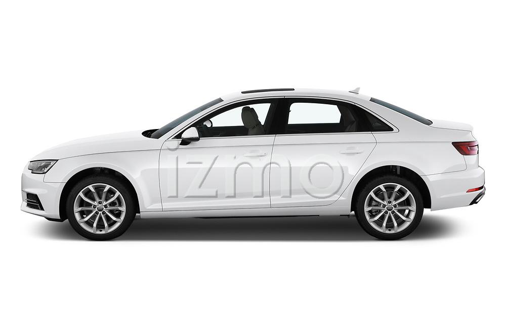 Car driver side profile view of a 2019 Audi A4 Premium 4 Door Sedan