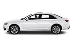 Car driver side profile view of a 2019 Audi A4 Premium 4 Door Sedan