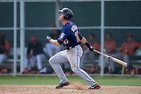 Minnesota Twins outfielder Max Kepler (27) during a minor league spring training game against the Baltimore Orioles on March 20, 2014 at the Buck O'Neil Complex in Sarasota, Florida.  (Mike Janes/Four Seam Images)