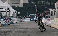 Tom Pidcock (GBR/U23/Telenet Fidea Lions) leading the race<br /> <br /> U23 Men's race<br /> UCI CX World Cup Namur / Belgium 2017