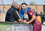 Forfar v St Johnstone…28.07.18…  Station Park    Betfred Cup<br />Tony Watt gets a hug at full time from his mum<br />Picture by Graeme Hart. <br />Copyright Perthshire Picture Agency<br />Tel: 01738 623350  Mobile: 07990 594431