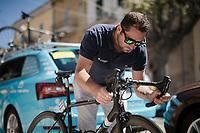 at the race start in Vasto<br /> <br /> Stage 7: Vasto to L'Aquila (180km)<br /> 102nd Giro d'Italia 2019<br /> <br /> ©kramon